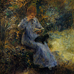 Woman with a Black Dog - 1874, Pierre-Auguste Renoir