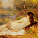 Пьер Огюст Ренуар - Nude Reclining on the Grass - 1890