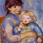Pierre-Auguste Renoir - Motherhood (also known as Child with a Biscuit) - 1887