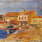 Houses by the Sea - 1912, Pierre-Auguste Renoir