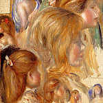 Childrens Heads, Pierre-Auguste Renoir