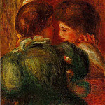 Pierre-Auguste Renoir - Two Womens Heads (also known as The Loge) - 1903
