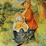 Pierre-Auguste Renoir - Motherhood (also known as Woman Breast Feeding Her Child) - 1886