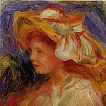 Profile of a Young Woman in a Hat, Pierre-Auguste Renoir