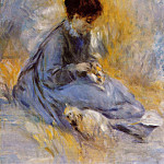 Пьер Огюст Ренуар - Young Woman with a Dog - 1876
