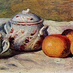 Пьер Огюст Ренуар - Still Life with Cup and Sugar Bowl - 1904