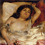 Pierre-Auguste Renoir - Reclining Semi-Nude (also known as nude male half-length)