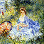 Young Woman with a Japanese Umbrella - 1876, Pierre-Auguste Renoir