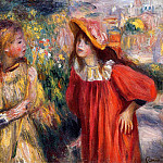 The Conversation - 1895, Pierre-Auguste Renoir