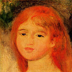 Girl with Auburn Hair - 1882, Pierre-Auguste Renoir