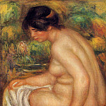 Seated Nude in Profile - 1913, Pierre-Auguste Renoir