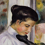 Young Woman in Profile - 1897, Pierre-Auguste Renoir