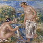 Bathing Women, Pierre-Auguste Renoir