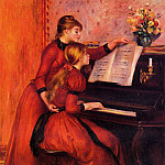 The Piano Lesson - 1889, Pierre-Auguste Renoir