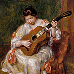 Woman Playing the Guitar – 1896, Pierre-Auguste Renoir