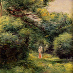 Lane in the Woods, Woman with a Child in Her Arms - 1900, Pierre-Auguste Renoir