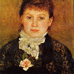 Woman Wearing White Frills - 1880, Pierre-Auguste Renoir
