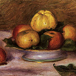 Apples on a Plate - 1890, Pierre-Auguste Renoir