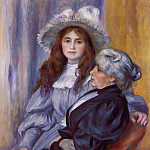 Berthe Morisot and Her Daughter Julie Manet – 1894, Pierre-Auguste Renoir