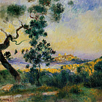 View of Antibes - 1892 - 1893, Pierre-Auguste Renoir