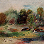 Pierre-Auguste Renoir - Landscape with Bridge - 1900