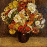 Bouquet of Chrysanthemums - 1881, Pierre-Auguste Renoir