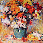 Пьер Огюст Ренуар - Vase of Chrysanthemums - 1890