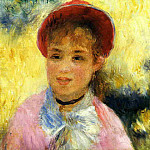 Modele from the Moulin de la Galette - 1876, Pierre-Auguste Renoir