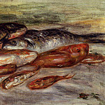 Пьер Огюст Ренуар - Still Life with Fish - 1913