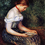 Pierre-Auguste Renoir - The Reader (La Liseuse) (also known as Seated Young Woman) - 1887