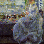 Madame Chocquet Reading - 1876, Pierre-Auguste Renoir