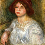 Пьер Огюст Ренуар - Girl in a Red Hat - 1913