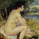 Seated Bather - 1883, Pierre-Auguste Renoir