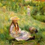 Young Girl in the Garden at Mezy - 1891, Pierre-Auguste Renoir