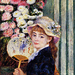 Girl with Fan - 1881, Pierre-Auguste Renoir