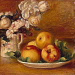 Apples and Flowers - 1895-1896, Pierre-Auguste Renoir
