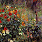 The Garden in the Rue Cortot at Montmartre – 1876, Pierre-Auguste Renoir