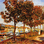 The Bridge at Argenteuil in Autumn - 1882, Pierre-Auguste Renoir