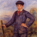 Jean Renoir as a Hunter - 1910, Pierre-Auguste Renoir