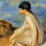 Bather - 1892-1893, Pierre-Auguste Renoir