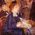 At the Cafe - 1876-1877, Pierre-Auguste Renoir