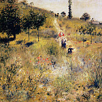 Path Leading through Tall Grass - 1876 -1875, Pierre-Auguste Renoir