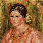 Head of a Young Girl in Red, Pierre-Auguste Renoir