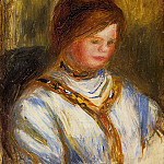 Woman in a Blue Blouse - 1906, Pierre-Auguste Renoir