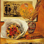 Still Life with Bouquet - 1871, Pierre-Auguste Renoir
