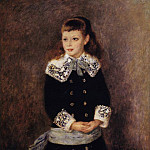 Пьер Огюст Ренуар - Marthe Berard (also known as Girl Wearing a Blue Sash) - 1879