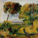 Пьер Огюст Ренуар - Breton Landscape - Trees and Moor - 1892