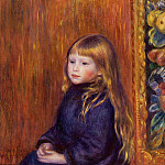 Seated Child in a Blue Dress - 1889, Pierre-Auguste Renoir