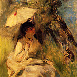 Woman with a Parasol - 1872, Pierre-Auguste Renoir