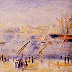 The Old Port of Marseille, People and Boats - 1890, Pierre-Auguste Renoir